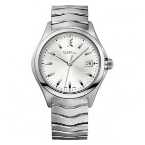 Gents Ebel Silver Dial Wave Quartz Watch