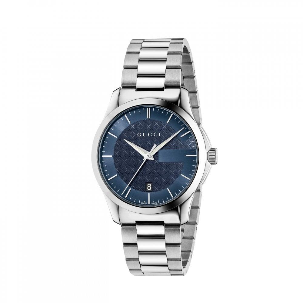 Gents G,Timeless Blue Dial Bracelet Quartz Watch