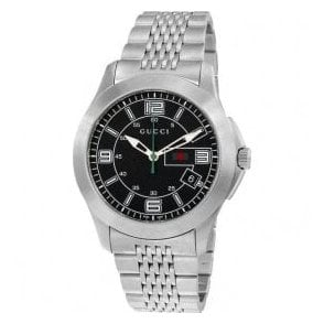 Gents Gucci G-Timeless Black Dial Bracelet Watch