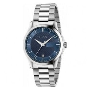 Gents Gucci G-Timeless Blue Dial Bracelet Watch