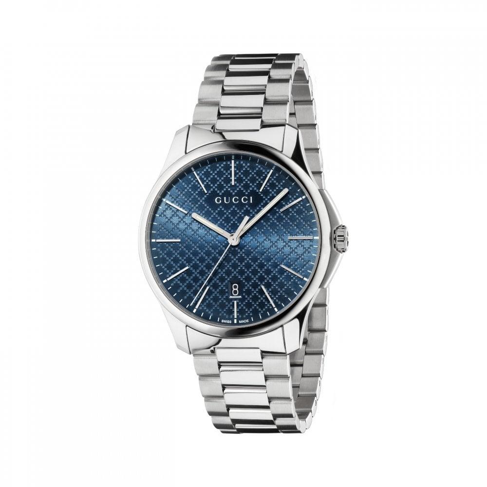 abec3813410 Gucci Gents Gucci G-Timeless Blue Diamante Dial Bracelet Watch