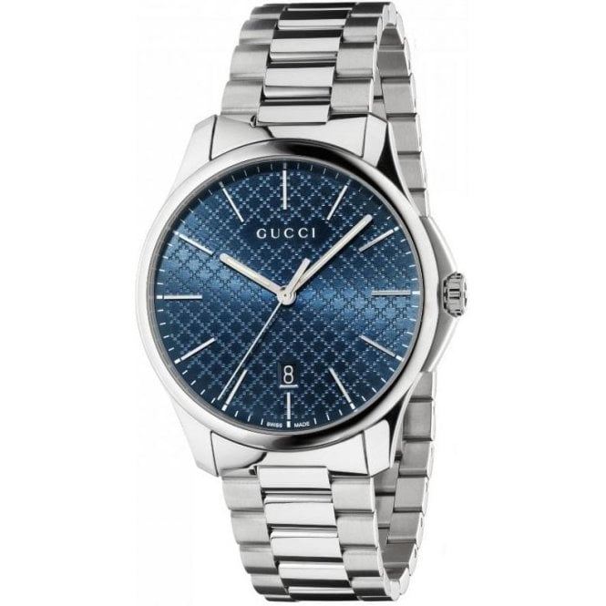 Gucci Gents Gucci G-Timeless Blue Diamante Dial Bracelet Watch