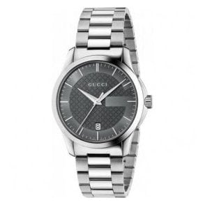 Gents Gucci G-Timeless Grey Dial Bracelet Watch