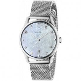 c210072f26d Gents Gucci G-Timeless MOP Dial Mesh Bracelet Watch
