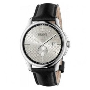 Gents Gucci G-Timeless Silver Dial Black Strap Automatic Watch