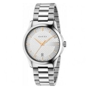 Gents Gucci G-Timeless Silver Dial Bracelet Watch