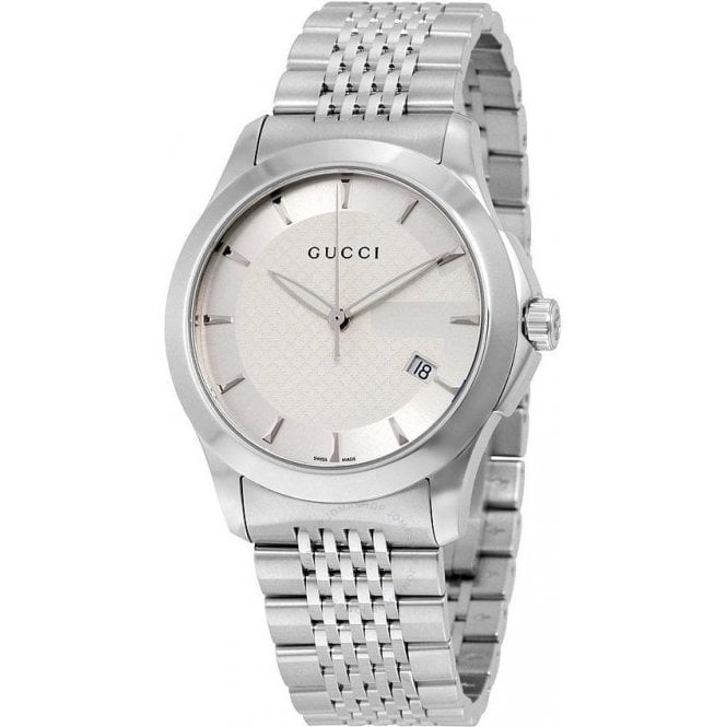 Gucci Gents Gucci G-Timeless Silver Dial Bracelet Watch