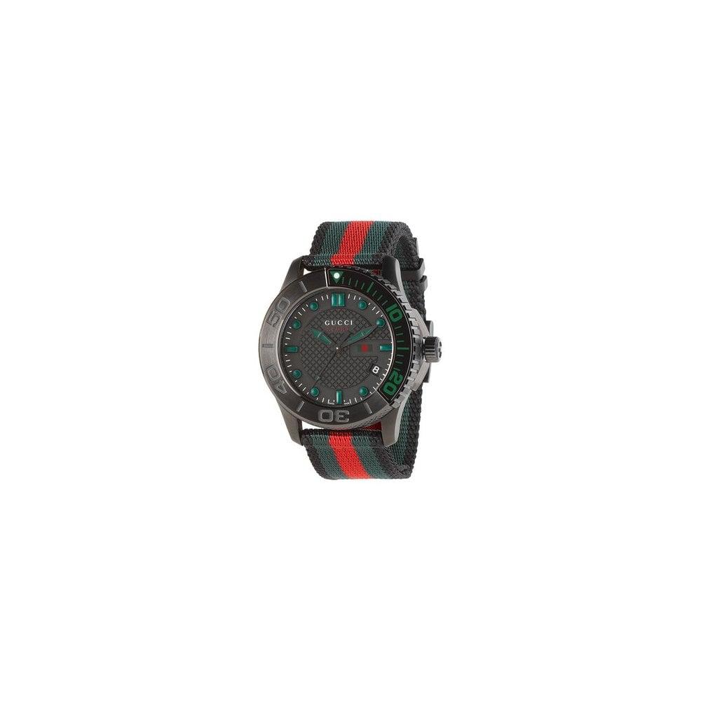 090ec282ec8 Gucci Gucci GentsG-Timeless Sport Red and Green Nylon Strap Watch ...