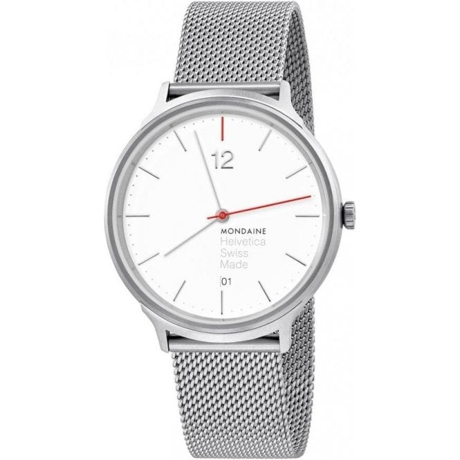 Mondaine Gents Helvetica Light Spiekermann Edition Quartz Watch