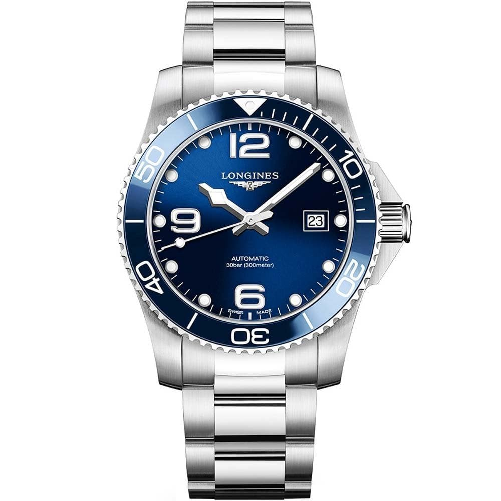 new product 62e09 7a5a5 Gents HydroConquest Blue Dial Ceramic Bezel Automatic Watch