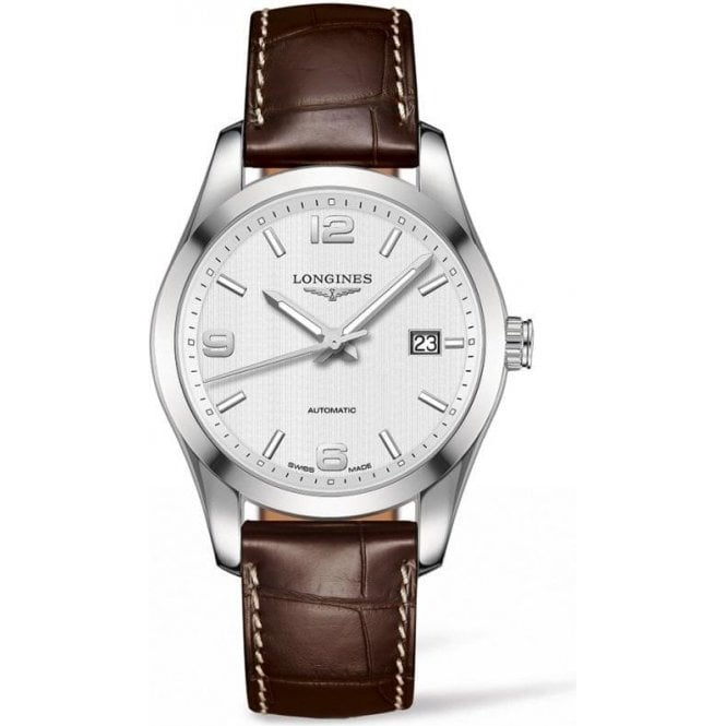 Longines Gents Longines Conquest Classic Automatic Brown Strap Watch