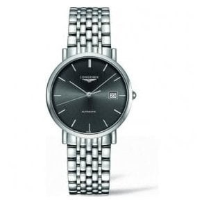 Gents Longines Elegant Automatic Grey Dial Bracelet Watch