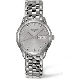 Gents Longines Flagship Day-Date Silver Dial Bracelet Watch