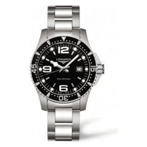 Gents Longines HydroConquest Black Dial Bracelet Watch