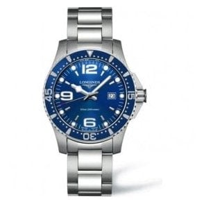 Gents Longines HydroConquest Blue Dial and Bezel Bracelet Watch