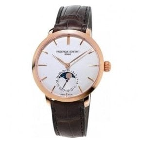 Gents Manufacture Slimline Moonphase Rose PVD Automatic Watch