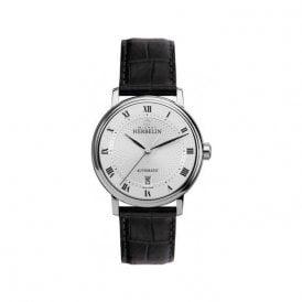 15a5c8449115 Gents Michel Herbelin Metropole Automatic Black Strap Watch