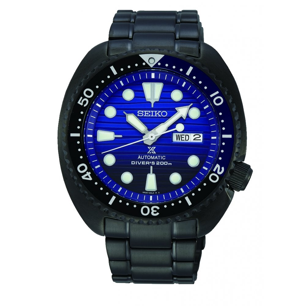 Gents Prospex Black Pvd Save The Ocean Automatic Watch