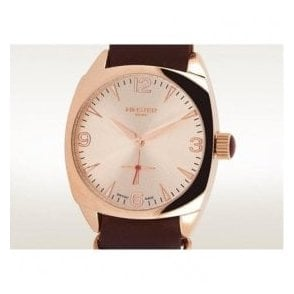 Gents Rose PVD Burlingham On Strap Rose Dial