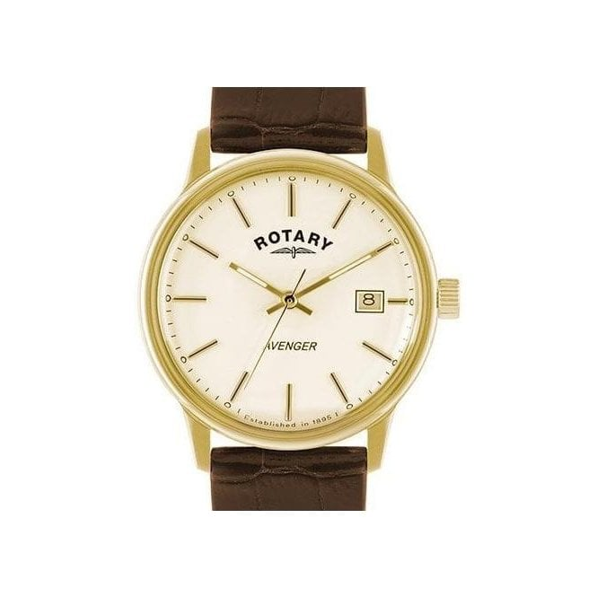 Rotary Gents Rotary Avenger Leather Strap Watch