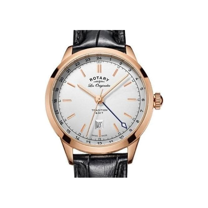 Rotary Gents Rotary Les Originales Tradition Rose PVD Watch