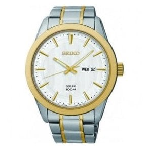 Gents Seiko Solar Two-Tone Bracelet Watch
