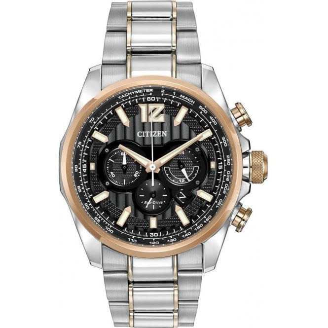 Citizen Gents Shadowhawk Two Tone Chronograph Eco-Drive Watch