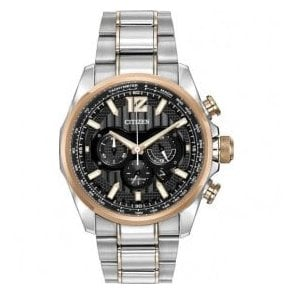 Gents Shadowhawk Two Tone Chronograph Eco-Drive Watch