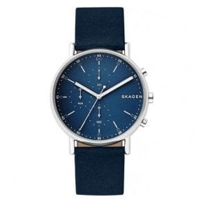 Gents Skagen Signatur Quartz Chronograph Blue Dial Watch