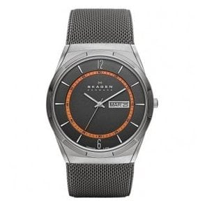 Gents Skagen watch on stainless steel mesh bracelet.