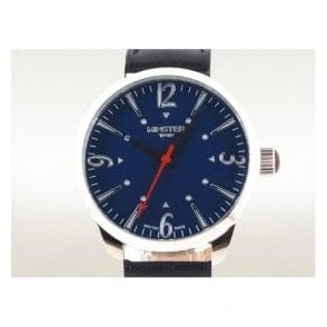 Gents Steel Crofton On Strap Blue Dial