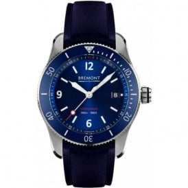 Gents Supermarine S300 Blue Dial Rubber Strap Automatic Watch