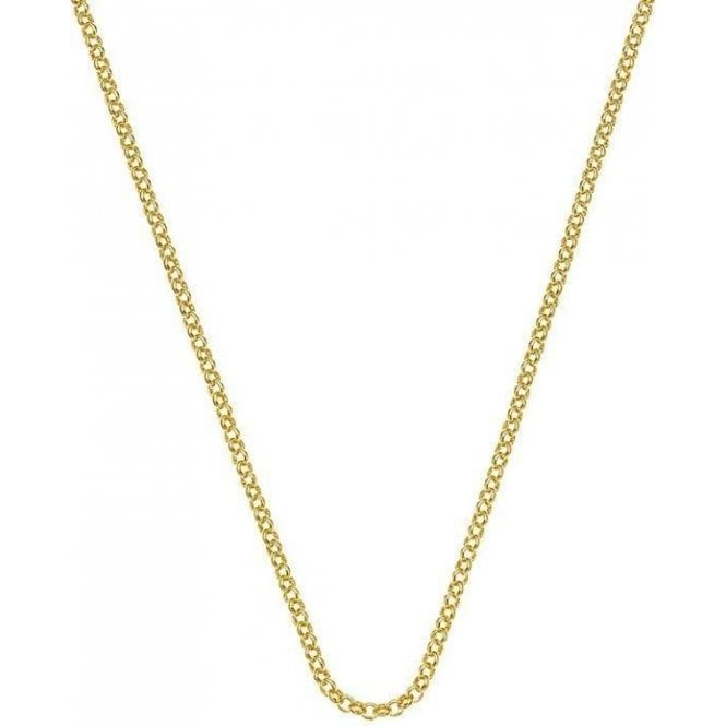 Hot Diamonds Emozioni Gold Plated Silver Belcher Chain.