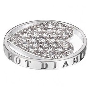 Hot Diamonds Emozioni Ice Sparkle Heart Coin