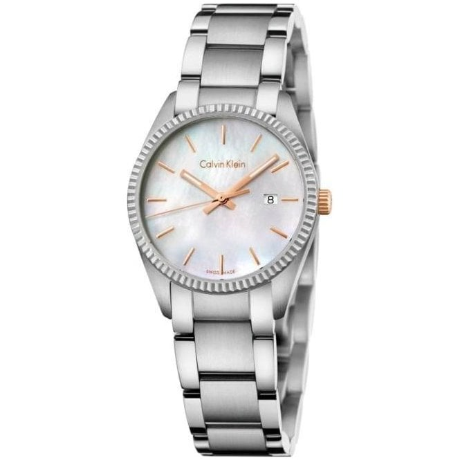 Calvin Klein Ladies Alliance MOP Dial Bracelet Quartz Watch