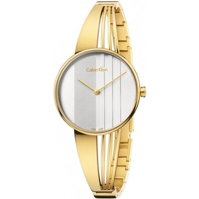 Calvin Klein Ladies Calvin Klein Drift Yellow PVD Bangle Watch