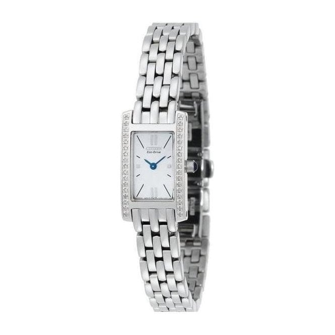 Citizen Ladies Citizen Silhouette Diamond Bezel Bracelet Watch