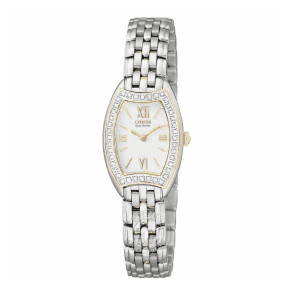 Ladies Citizen Silhouette Diamond Bezel Two-Tone Bracelet Watch