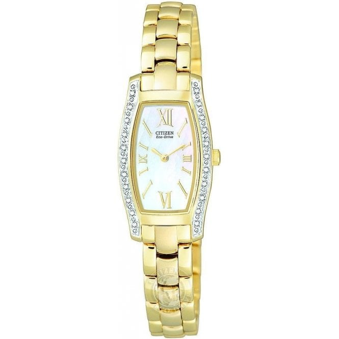Citizen Ladies Citizen Silhouette Yellow PVD Diamomd Bezel Watch