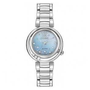 Ladies Citizen Sunrise Diamond Set Dial and Bezel Watch