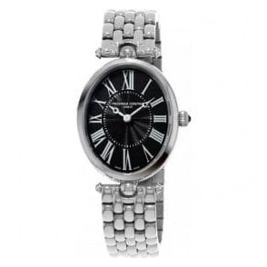 Ladies Classics Art Deco Black Dial Bracelet Quartz Watch