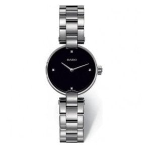 Ladies Coupole Black Dial Bracelet Quartz Watch