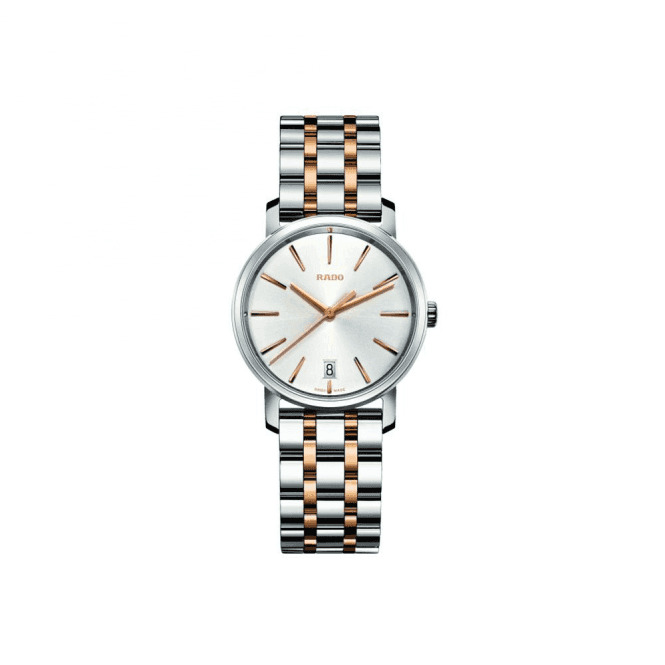 Rado Ladies DiaMaster Silver Dial Two Tone Bracelet Quartz Watch