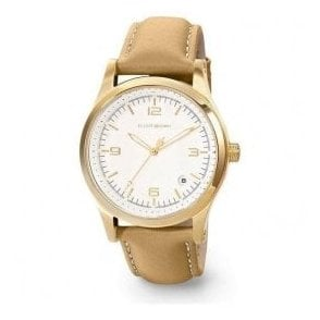 Ladies Elliot Brown Kimmeridge White Dial Caramal Strap Watch