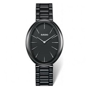 "Ladies Esenza Black High-Tech Ceramic Quartz ""Touch"" Watch"