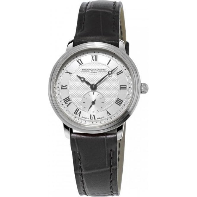 Frederique Constant Ladies Frederique Constant Slimline Mid Size Black Strap Watch