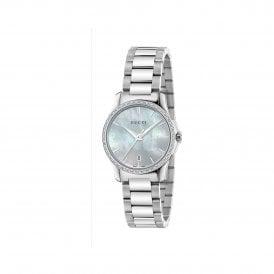 5e47b4f1a38 Ladies G-Timeless MOP Dial Diamond Set Bezel Quartz Watch