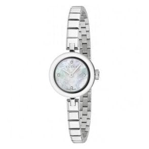 Ladies Gucci Diamantissima MOP Diamond Set Dial Bracelet Watch