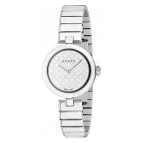 Ladies Gucci Diamantissima White Dial Bracelet Watch