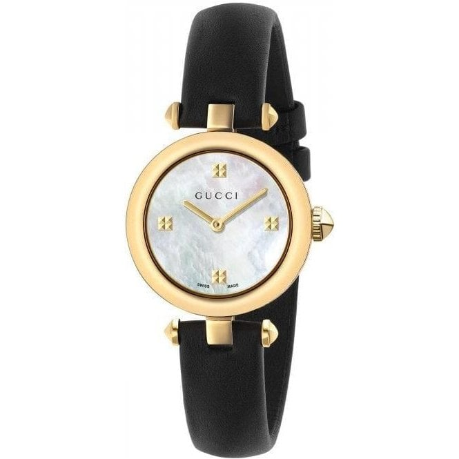 Gucci Ladies Gucci Diamantissima Yellow PVD MOP Dial Watch